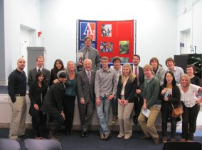 Bob Schieffer and the WSP Journalism & New Media Students